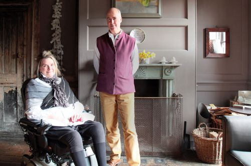 Charles and his wife Romilly at home. Image: © Kâthe Kroma
