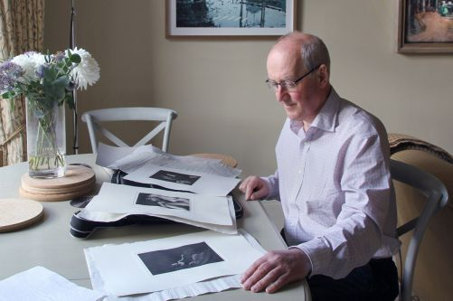 James Hall at his desk in London. Image: © Kâthe Kroma