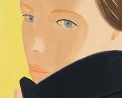 Alex Katz, Black Coat, Nicole