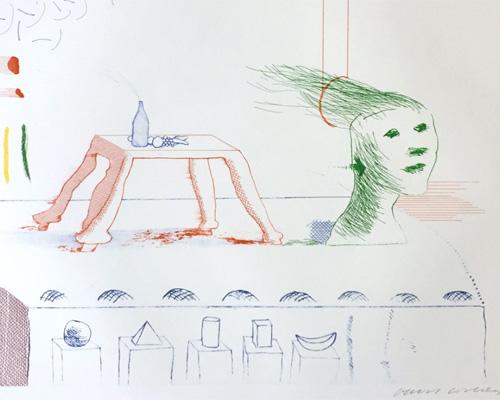 David Hockney A Moving Still-life