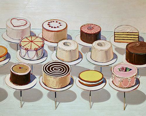 Wayne Thiebaud, Cakes, 1963