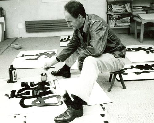 Eduardo Chillida in his Studio in 1963
