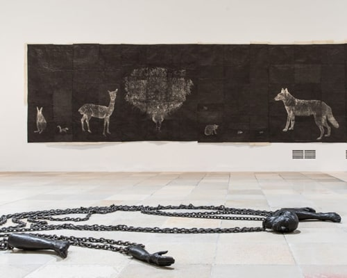 Installation view, Kiki Smith, Procession, Haus der Kunst, Munich, 2018