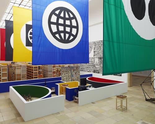 Installation view of Matt Mullican, Organizing the World, Haus der Kunst, Munich 2011
