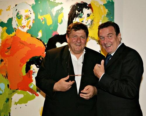 Michael Schultz and Gerhard Schröder