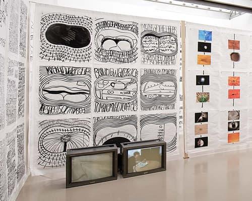 Installation view of Matt Mullican, Organizing the World, Haus der Kunst, Munich