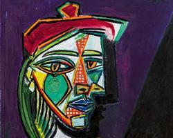 Pablo Picasso, Femme au beret et à la robe quadrille, 1937
