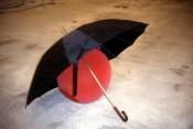 Kugelsicherer Regenschirm