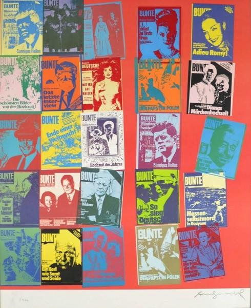 Andy Warhol, Magazine and History, FS II.304 A (BUNTE Magazine), 1983