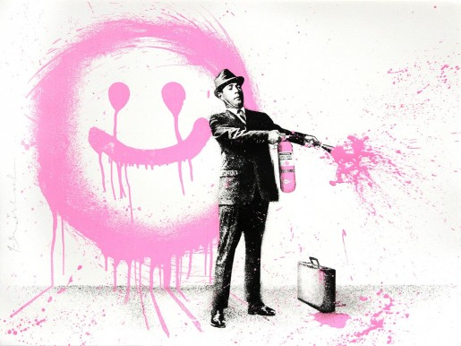 Mr. Brainwash, Spray Happiness Pink, 2018
