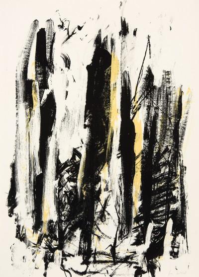 Joan Mitchell, Trees (Jaune/noir), 1992