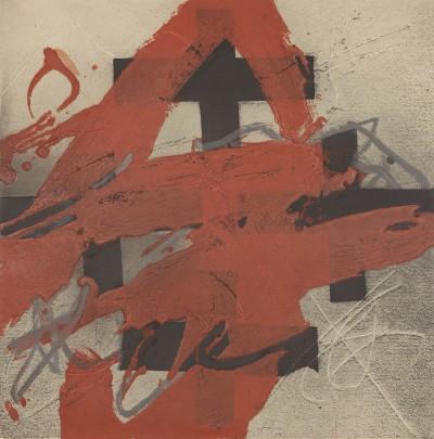 Cobert de roig von Antoni Tàpies