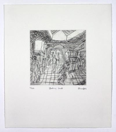 Leon Kossoff, The Booking Hall, 1982