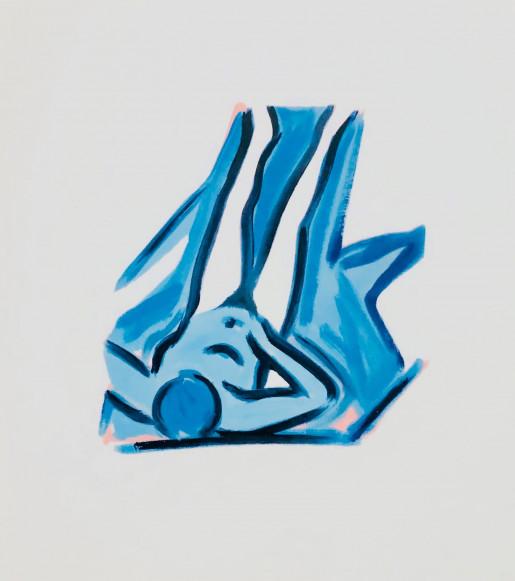 Tom Wesselmann, Blue Nude #2, 2001