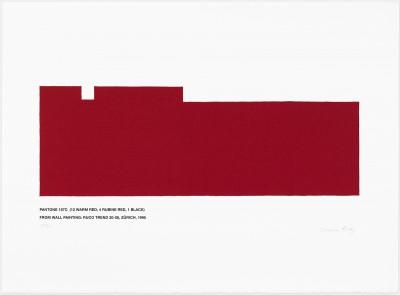Pantone 187C (12 Warm Red, 4 Rubine Red, 1 Black) von Marcia Hafif