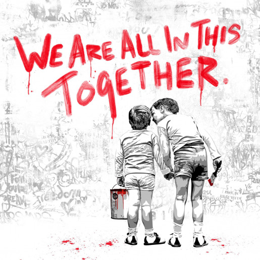 Mr. Brainwash, We Are All in this Together - Red, 2020