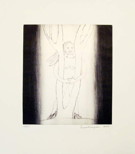 Louise Bourgeois, Embracing the Tree, 2000
