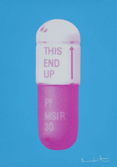 Damien Hirst, The Cure - Vivid Blue/Cloudy Pink/Candy Floss Pink, 2014