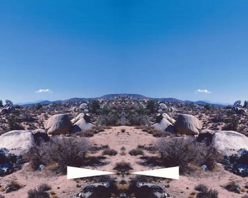 Bow-Tie Palm Springs (Bow-Tie Landscapes) von Ed Ruscha