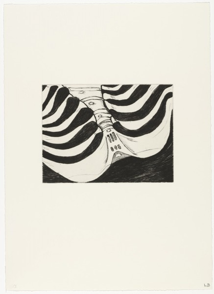 """Louise Bourgeois, Ohne Titel (Nr. 5 von 12), aus dem Portfolio """"Anatomy"""", 1989"""