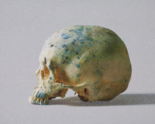 Studio Half Skull, half face von Damien Hirst