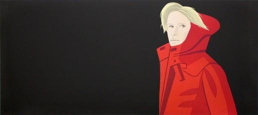 Alex Katz, Nicole (red coat), 2016