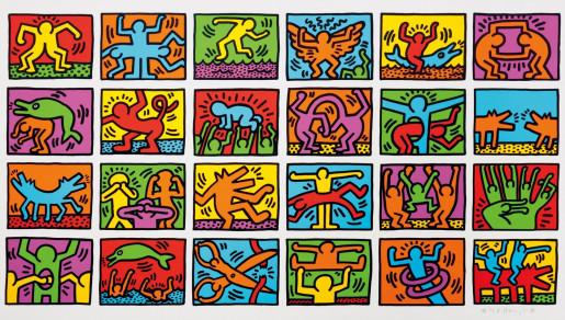 Keith Haring, Retrospect (in color), 1989