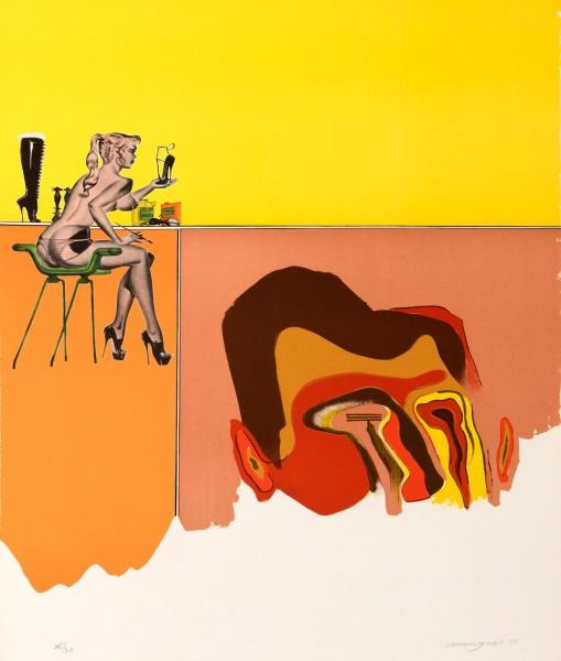 "Allen Jones, Plate 2, from the Portfolio ""Album"", 1971"