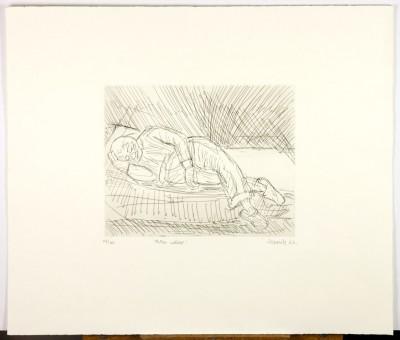 Leon Kossoff, Father Asleep, 1983