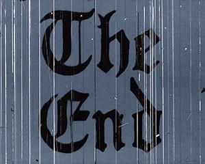 The End von Ed Ruscha