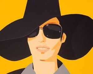 Vivien in Black Hat von Alex Katz