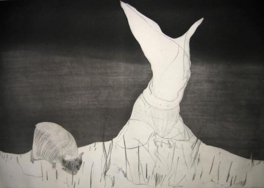 Nicola Tyson, Pastoral: Figure and Grazing Animal, 2007