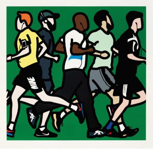 Julian Opie, Runners (Running Men), 2016