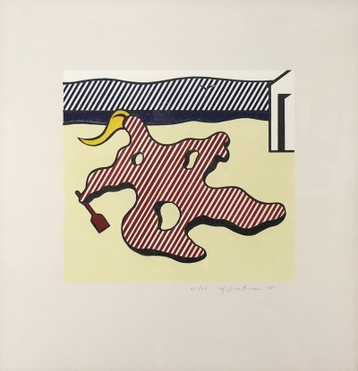 """Nude on Beach from the """"Surrealist Series"""" von Roy Lichtenstein"""