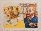 Van Gogh with Sunflowers
