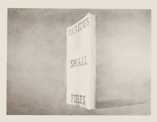 Ed Ruscha, Various Small Fires (from Book Covers), 1970