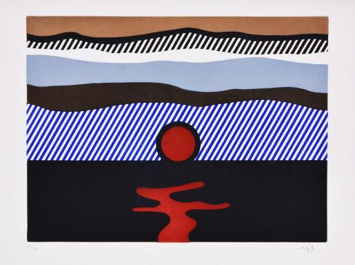 Roy Lichtenstein, Illustration for 'De Nouveau au-dessus de Denver', from La Nouvelle Chute de l'Amérique, 1992