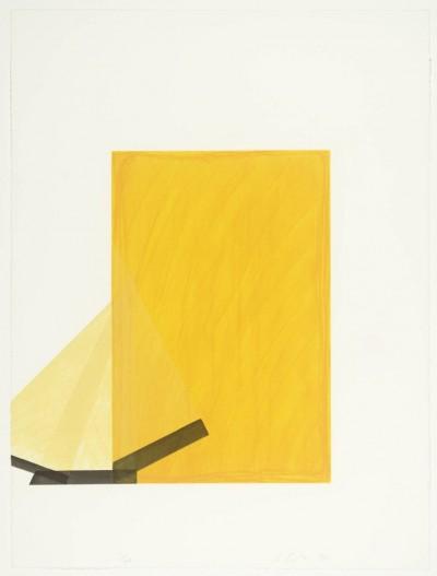 Richard Smith, Drawing Boards I: yellow / black, 1980