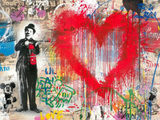 Mr. Brainwash, Spray Love, 2019