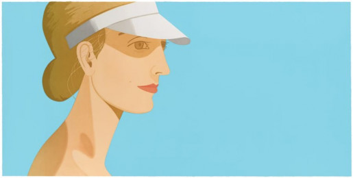 Alex Katz, White Visor, 2003