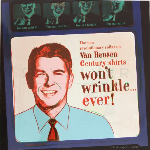 "Andy Warhol, Van Heusen (Ronald Reagan) (FS II.356), from the Portfolio ""ADS"", 1985"