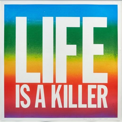 John Giorno, LIFE IS A KILLER, 2017