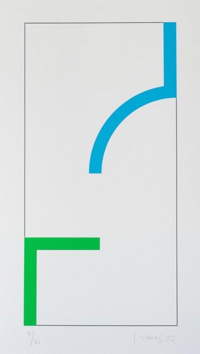 Sans Titre (Bleu/Vert) von Gottfried Honegger