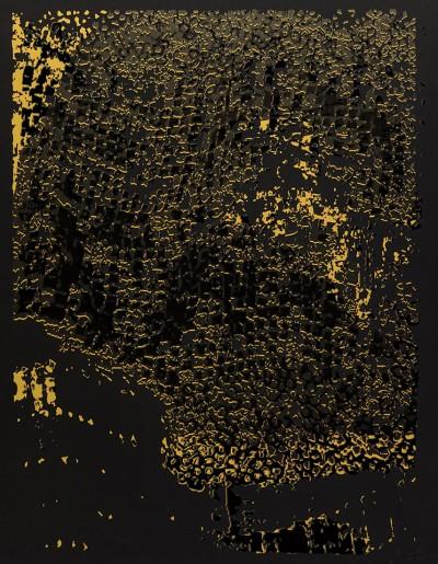 Untitled (Black Edge with Pearl) von El Anatsui