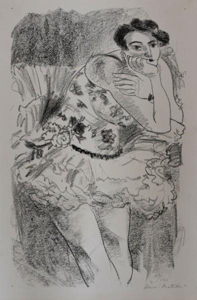 Henri Matisse, Danseuse à mi-jambes, Main au Menton (Pl. de l'album Dix danseuses), 1925-1926