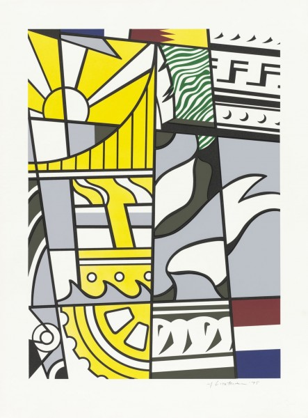 "Roy Lichtenstein, Bicentennial Print, from the Portfolio ""America: The Third Century"", 1975"