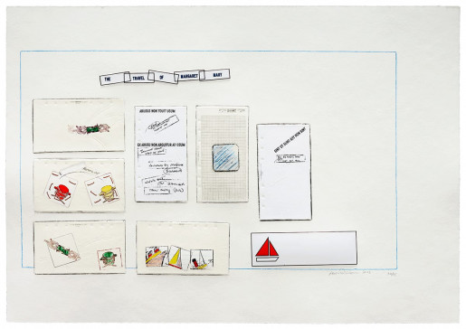 Lawrence Weiner, THE TRAVEL OF MARGARET MARY, 2013