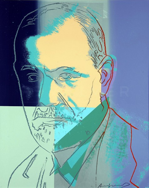 "Andy Warhol, Sigmund Freud (FS II.235), from the Portfolio ""Ten Portraits of Jews of the Twentieth Century"", 1980"