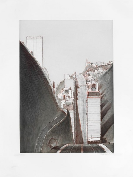 Wayne Thiebaud, Park Place Variation, 1995