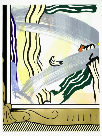 """Painting In Gold Frame from the """"Paintings"""" Series von Roy Lichtenstein"""